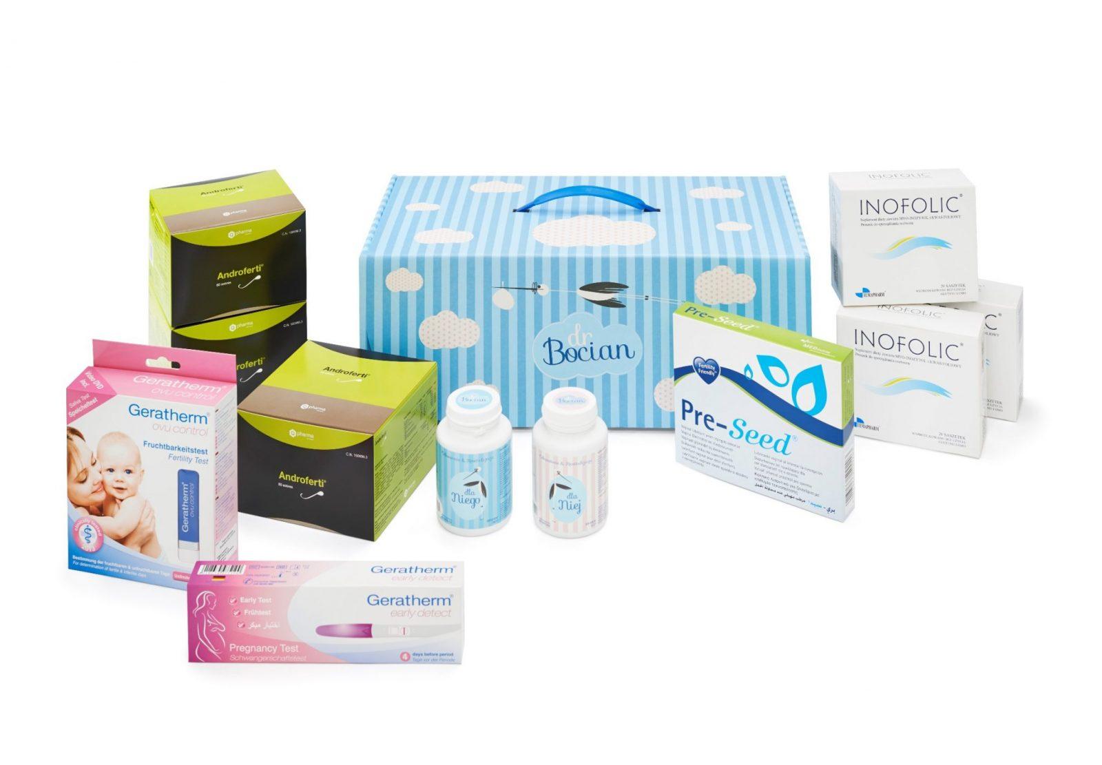 Zestaw drBocian – produkty medyczne wspomagające ciążę